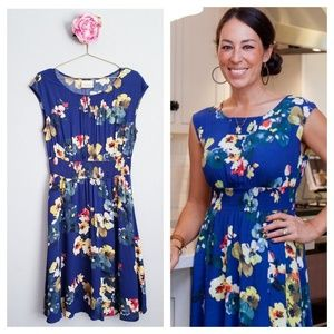 Anthropologie Maeve Navy Floral Evaline Dress